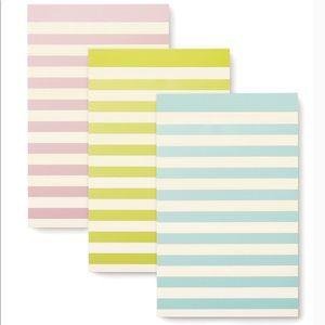 Kate spade New York pastel stripe notepad set